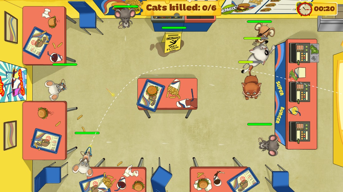 Игра в которой стреляют котами