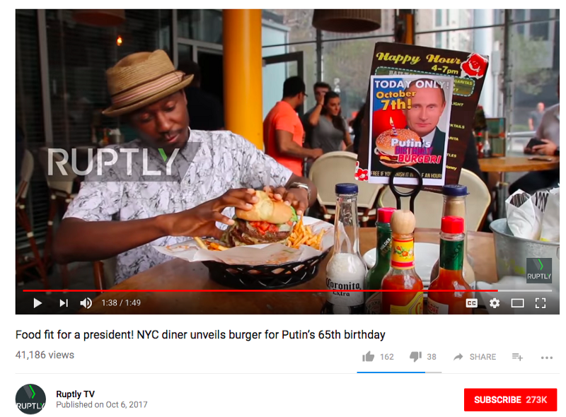 """Уволены сотрудники американского ресторана, снявшиеся в фейковом сюжете про """"Путинбургер"""""""