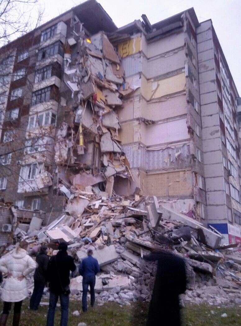 В Ижевске частично обрушился жилой дом
