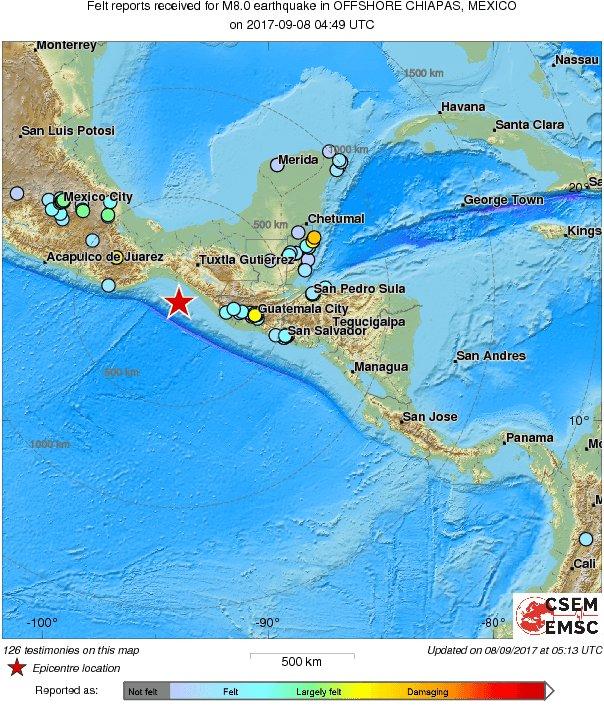 Мощное землетрясение и цунами в Мексике: есть погибшие