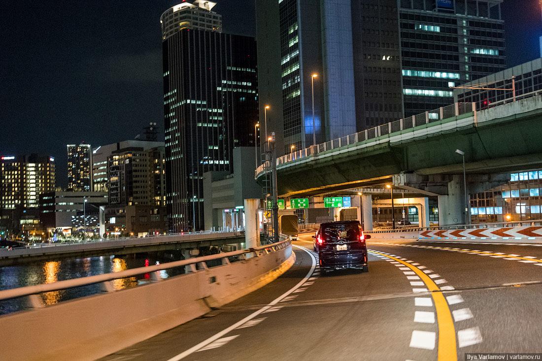 Осака: двухэтажный мост, квадратные автомобили и отель для животных