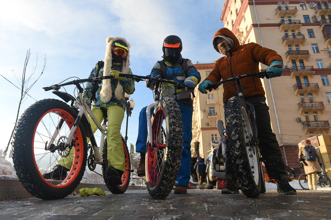 ВМоскве отменили четвертый зимний велопарад
