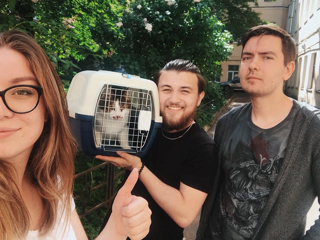 Питерская полиция помогла спасти кота Омска
