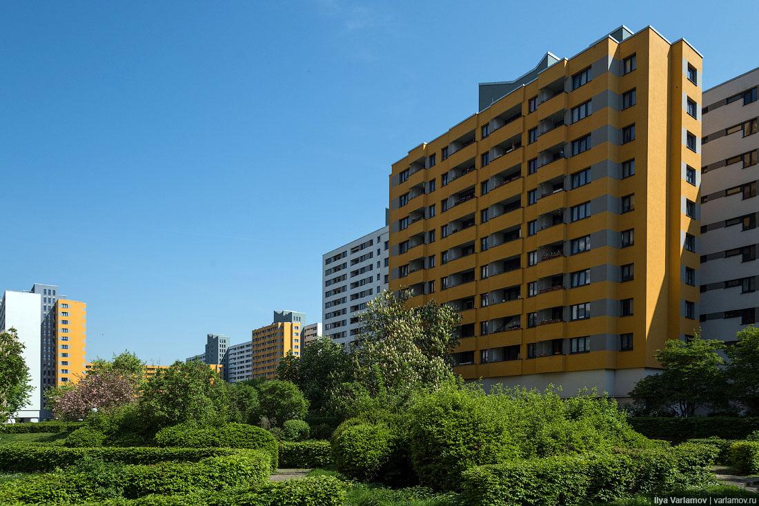 Панельные микрорайоны Западного Берлина