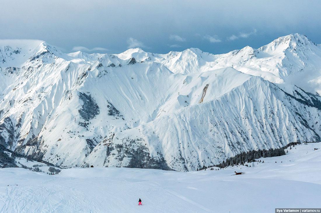 Французские Альпы в ожидании шторма
