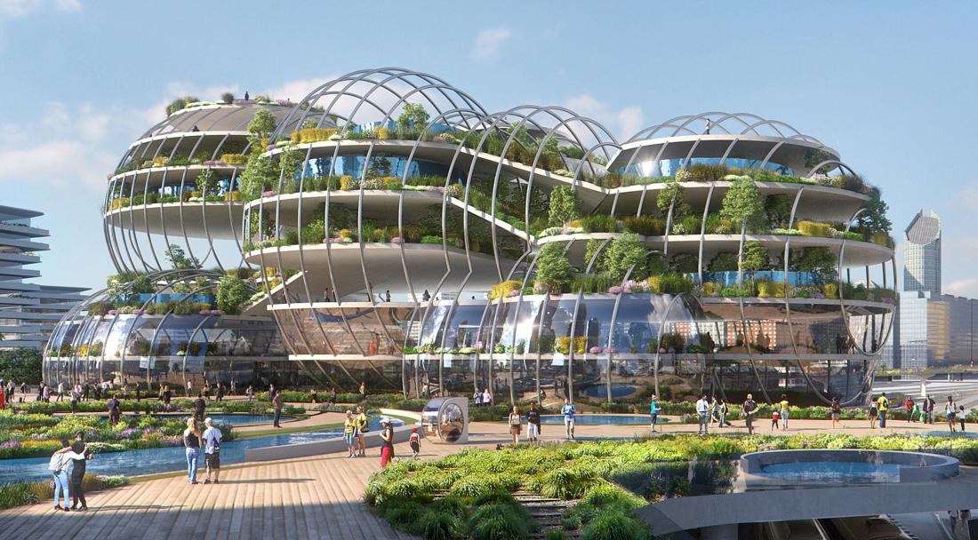Как может выглядеть город будущего
