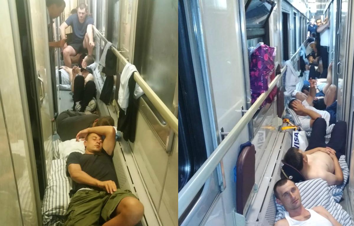"""""""Отношение как к животным"""": краснодарским полицейским пришлось ехать в переполненном поезде"""