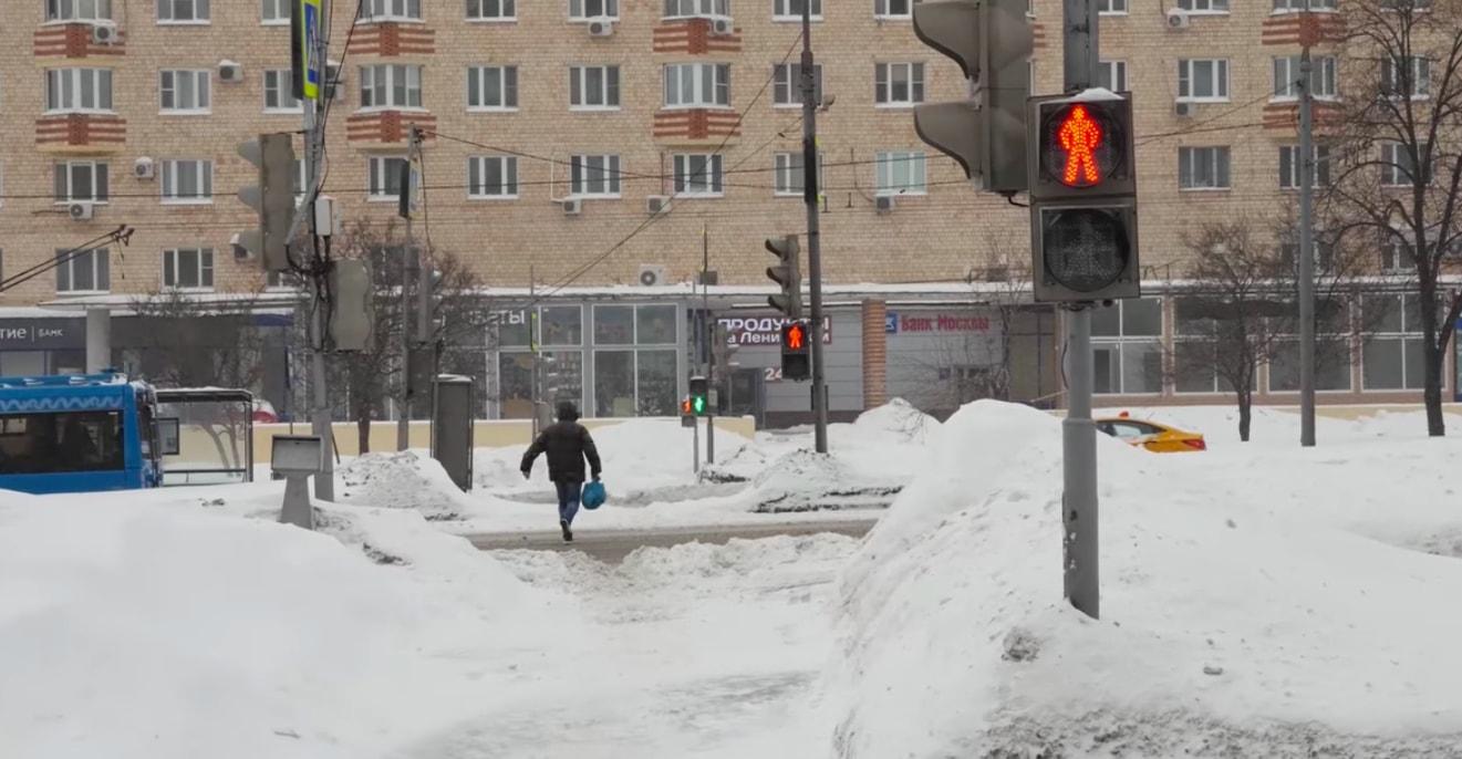 В Москве сократили время ожидания на самом долгом пешеходном переходе