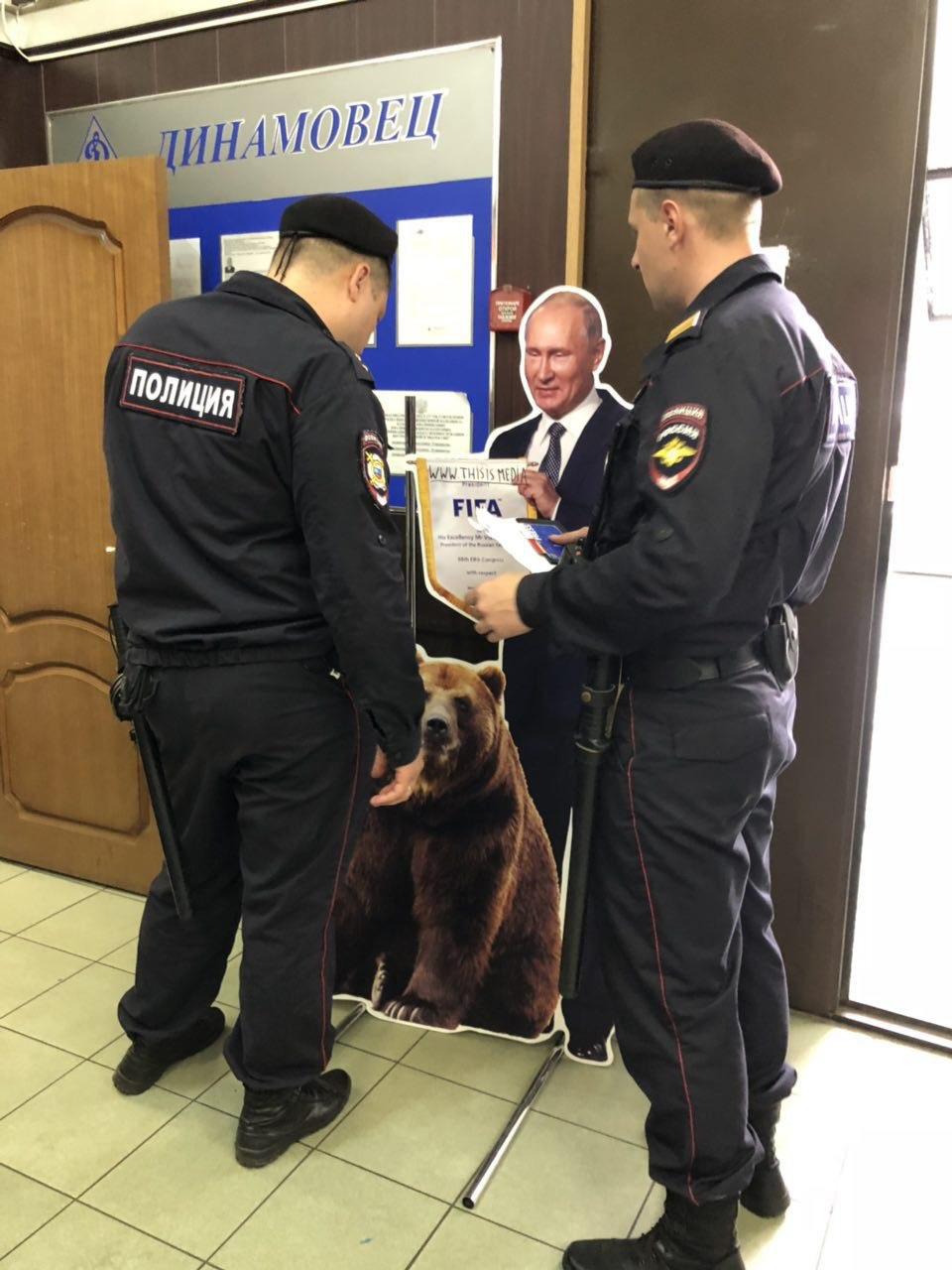 На Никольской задержан картонный Путин