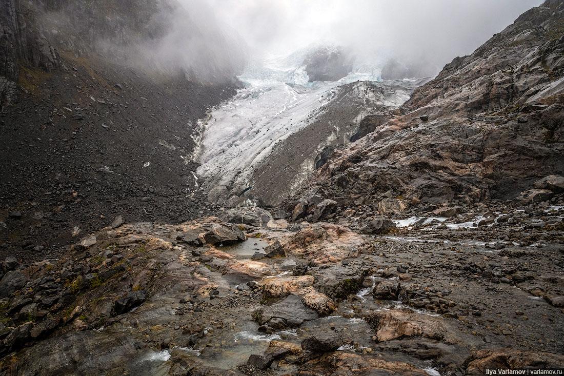 Норвегия: покорили с ребенком ледник!