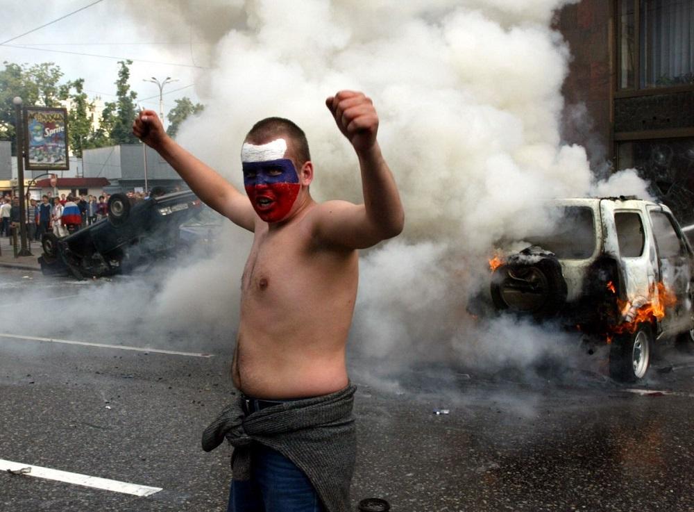 Погром в Москве после поражения сборной России