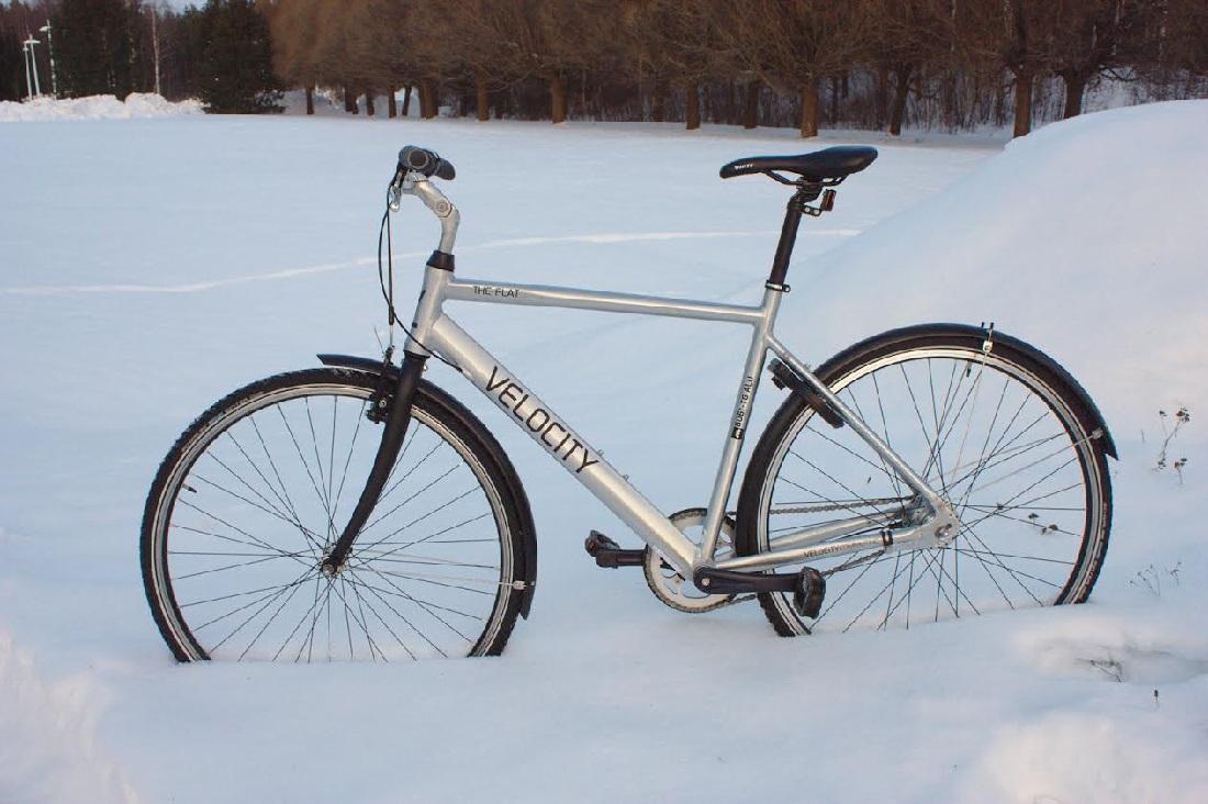 Зимний велосипед в Финляндии