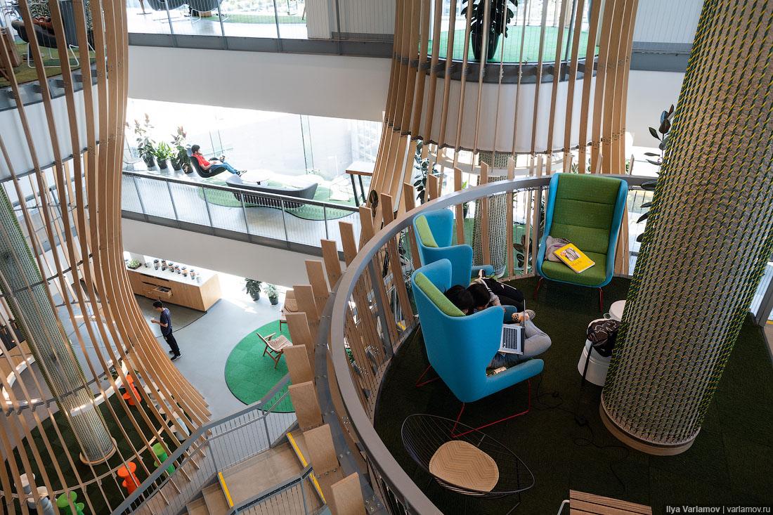 """Самый крутой офис """"Гугл"""": не работа, а курорт"""