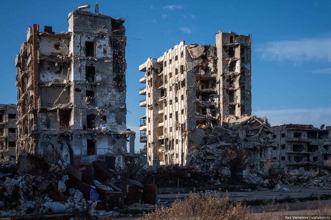 Сирия, разрушенная войной: Дамаск и Хомс