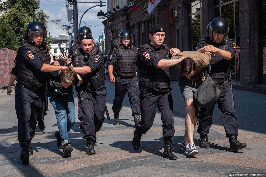 СК: наакции 27июля задержаны 134 уклониста отармии, готовится уголовное дело