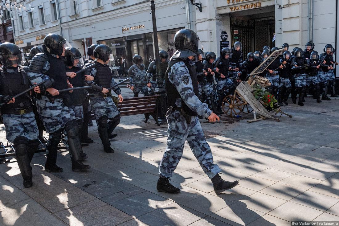 По факту акции 27июля вцентре Москвы возбуждено дело омассовых беспорядках