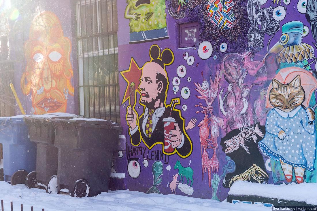 Красивый Монреаль: хипстеры, двери, стрит-арт