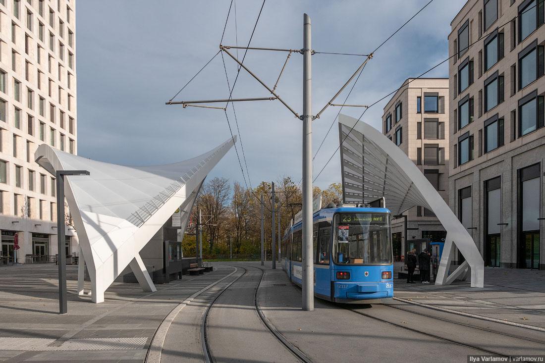 Общественный транспорт и сёрфинг в Мюнхене