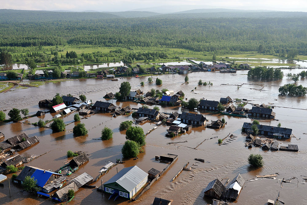Наводнение под Иркутском