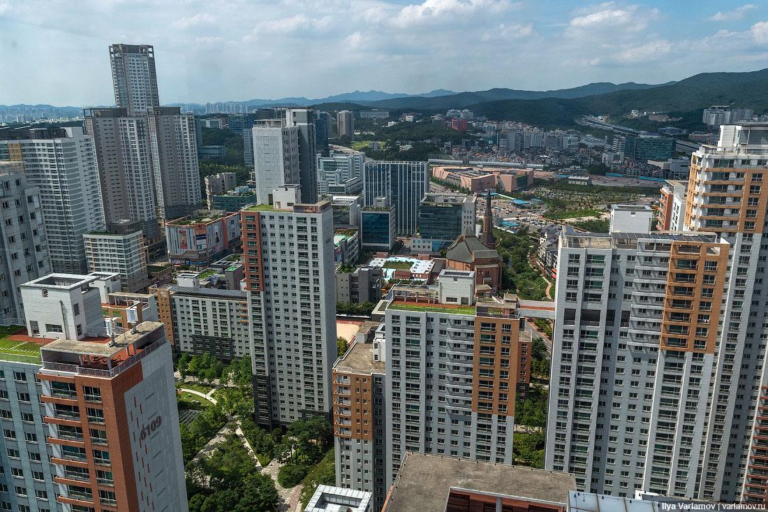 Новые районы Сеула: зелень, мусор и многоэтажки