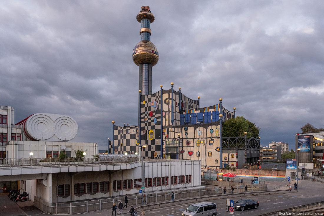 Вена: зелень, вывески, мусоросжигательный завод