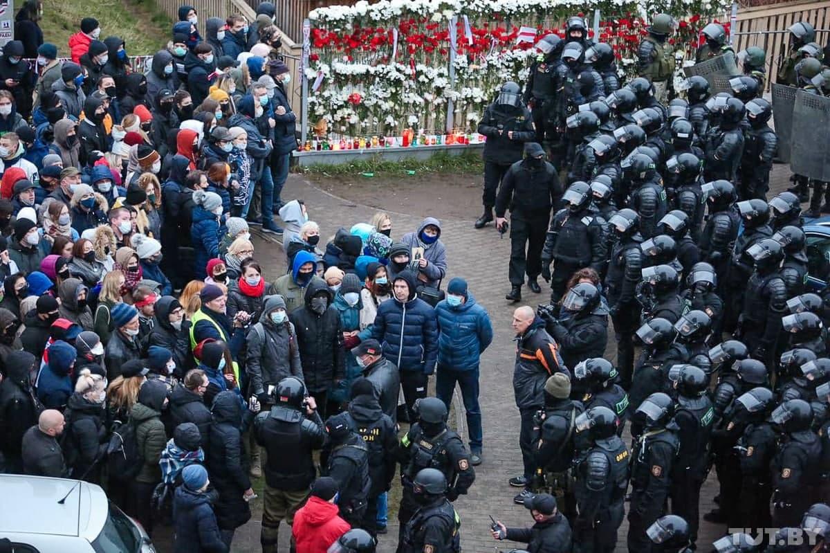 99-й день протестов в Беларуси. Акция памяти Романа Бондаренко