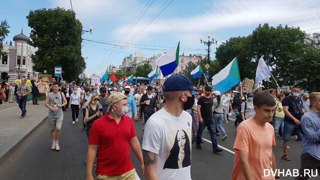 43-й день протестов в Хабаровске