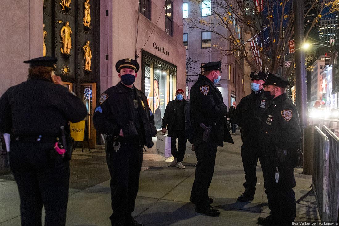 Нью-Йорк: коронавирус, Рождество, менты