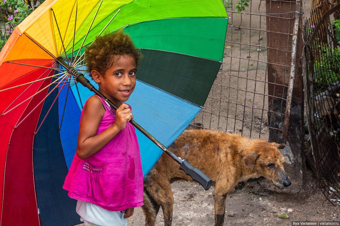 Папуа: почти Россия, рынок и дома над водой