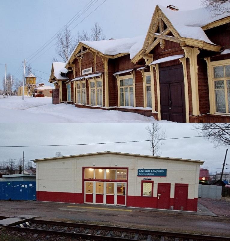 Под Петербургом вместо дореволюционного вокзала построили убогий сарай!