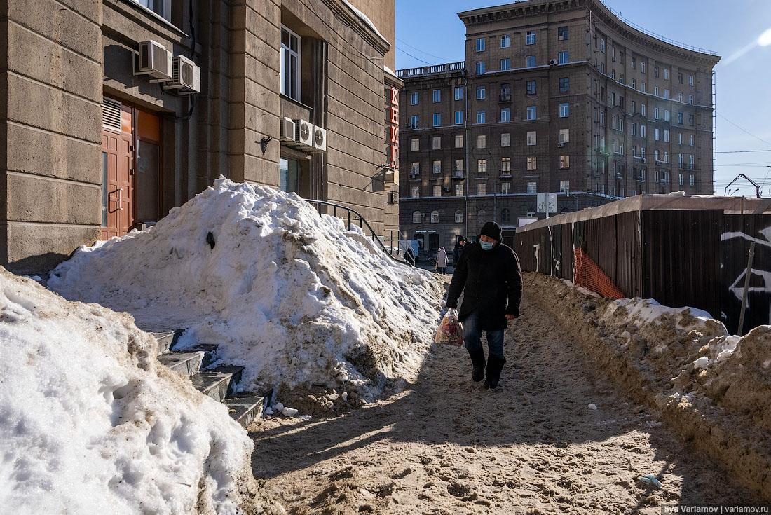 Мэр Новосибирска вводит режим ЧС из-за снега