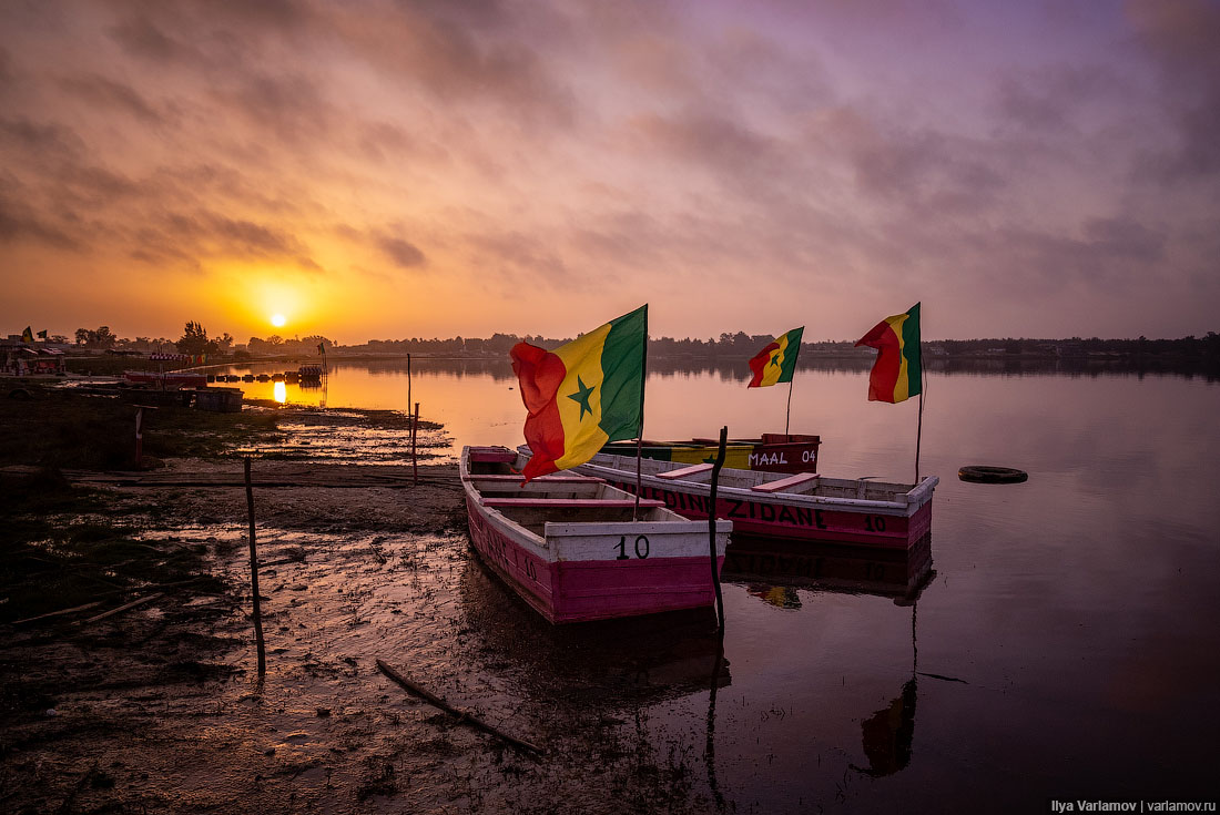 Деревни Сенегала и невероятный закат на озере Ретба