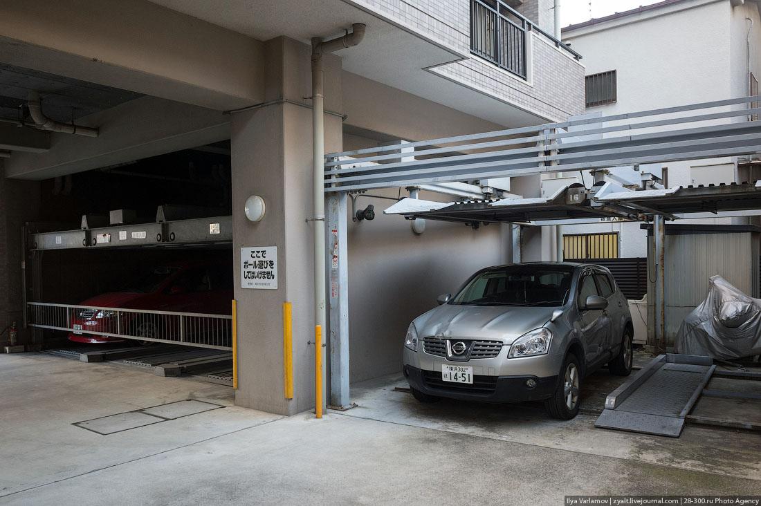 Как устроены парковки в Японии