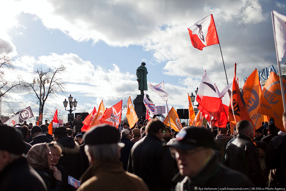 Митинг за отставку Путина в Москве фото