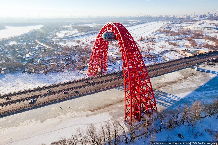 живописный мост в москве фото