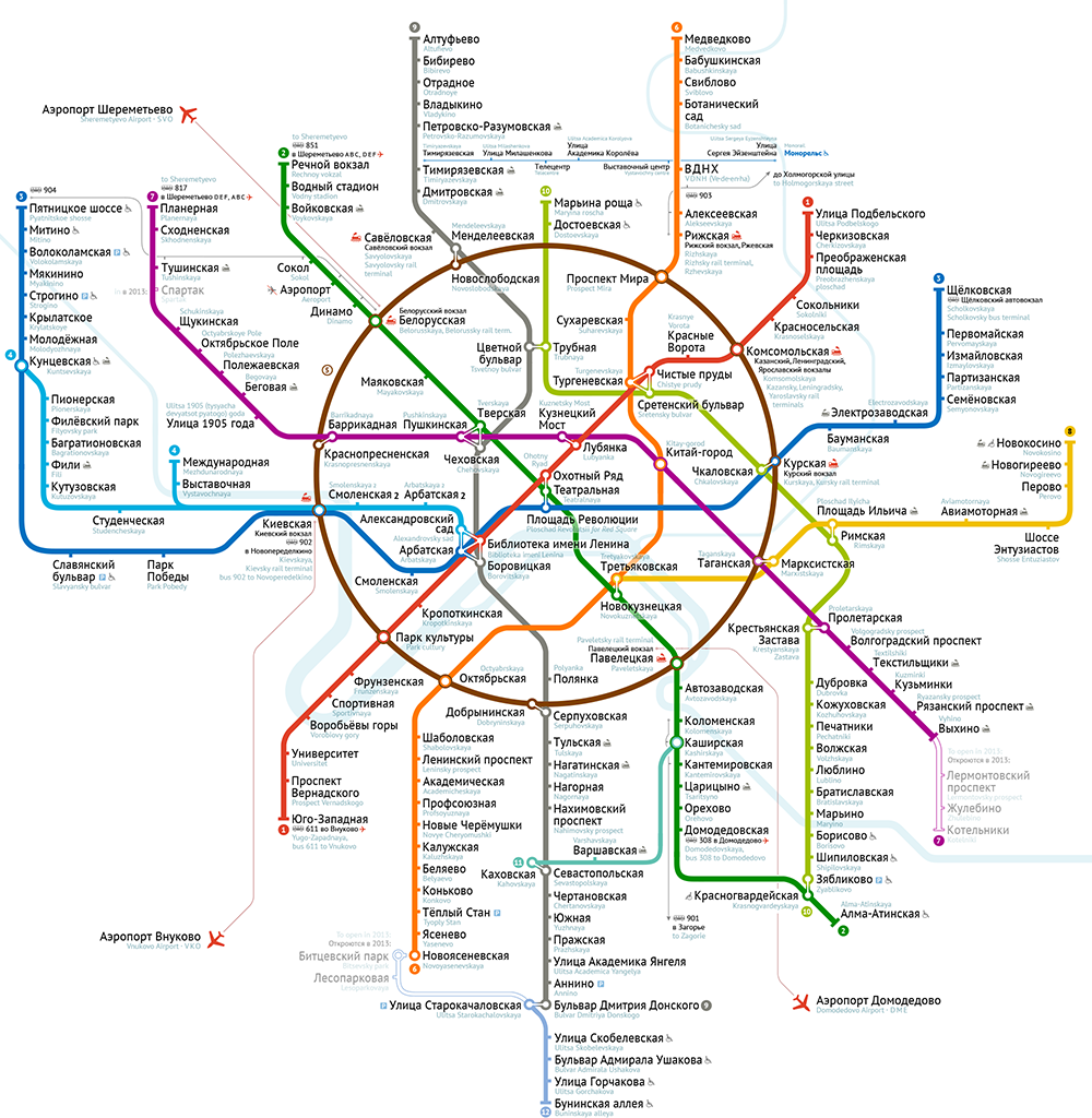 Метро москвы схема 2011