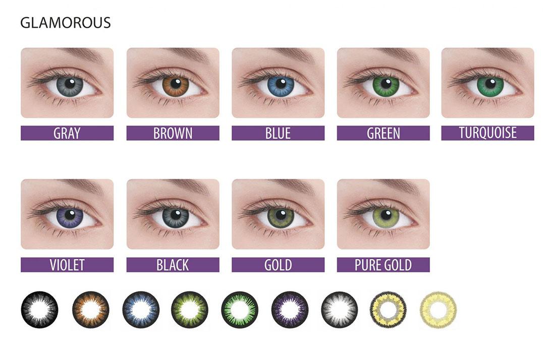 Как сделать зелёный цвет глаз