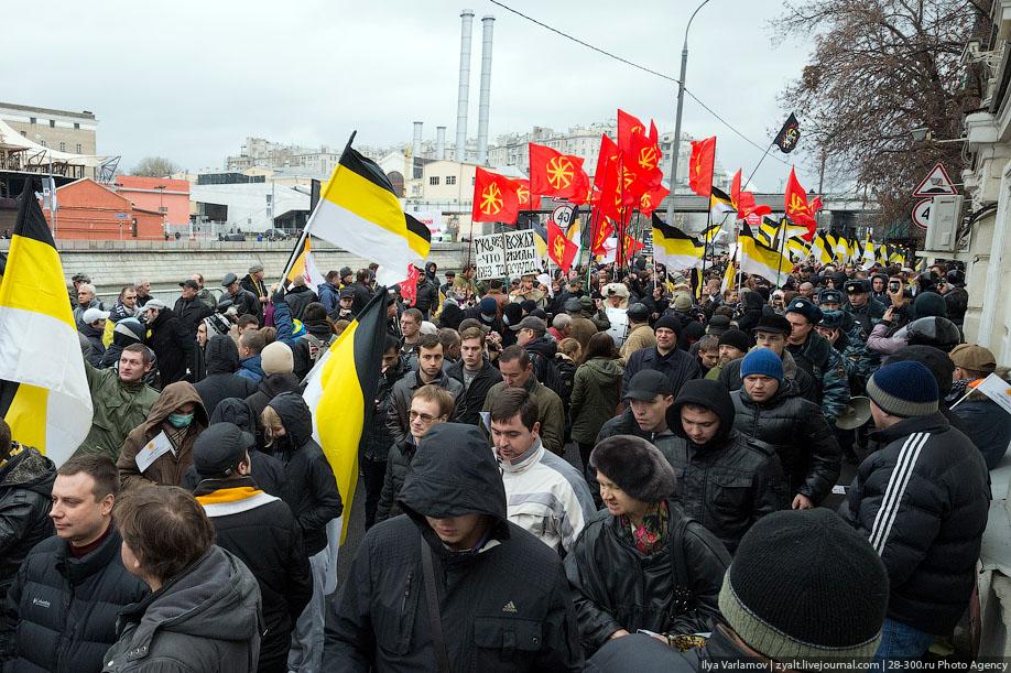 Русский марш 2012. Фото от Ильи Варламова