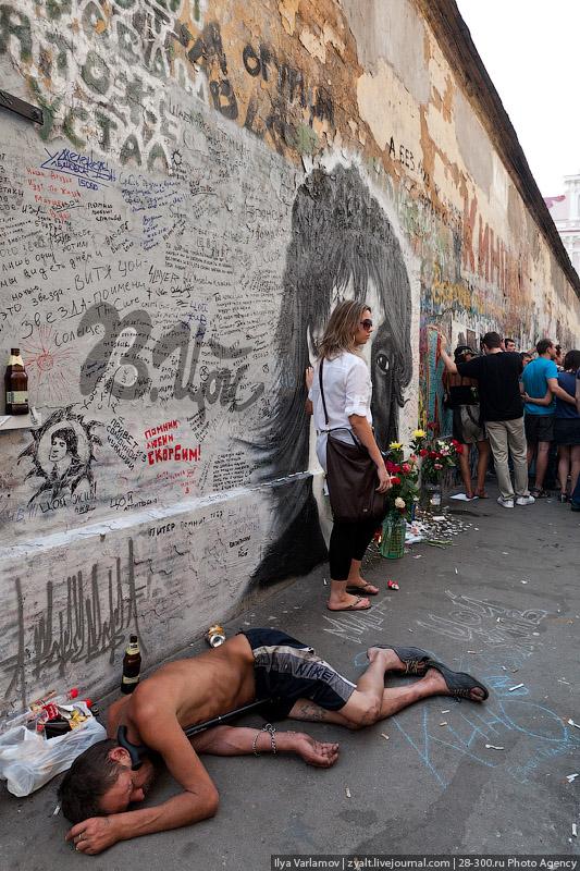 граждане спонсоры почему нельзя фотографироваться возле стены цоя средних цен